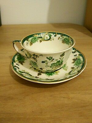 Masons ironstone chartreuse cup & saucer