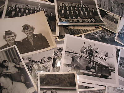 1941-48 Army Air Force Wwii Era 250 Photos Wright Patterson Field Band & More