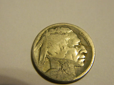 1919 D Buffalo Nickel Acid Recovered Date