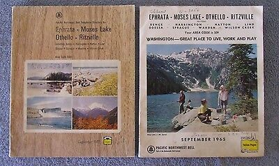2 Vintage Pacific Northwest Bell Telephone Directories 1960s Central Washington