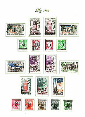Algeria 1962 - Collection of 19 Stamps , EA + Postage Due set , Mint Hinged *
