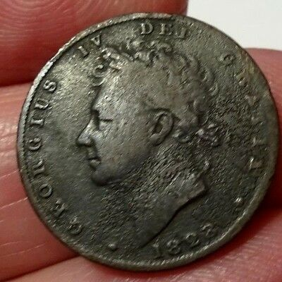 King George IV 1823  Copper Farthing