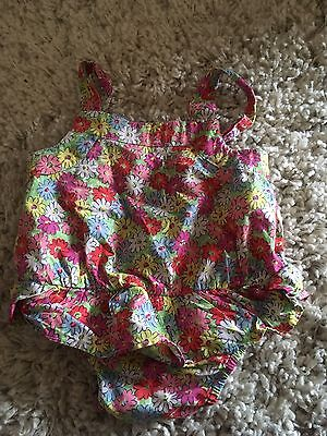 Cath Kidston Floral Top All In One Romper Age 6-12 Months