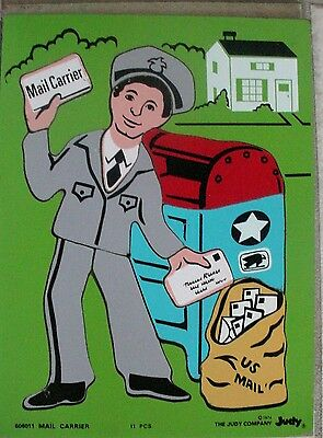 Valentine's Day: Mailman, Community Helpers, Judy Instructo Puzzle Mail Carrier