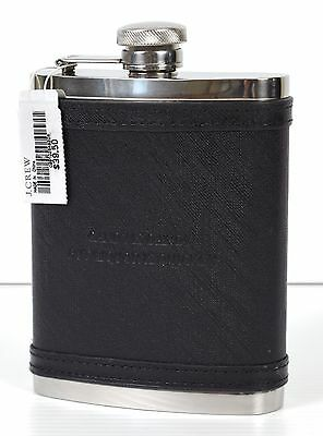 "*NEW* J.Crew Black Leather / Stainless Steel Flask ""Candy is Dandy"""