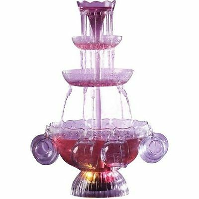 Punch Lighted Party Fountain Beverage Set Nostalgia Electrics Vintage Collection