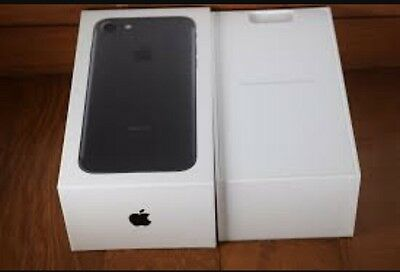 Iphone 7 Matte Black ONLY BOX With Apple Stickers Inside