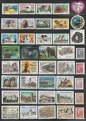 France, 283 Used On 7 Scans, Inc. 11 Sets, Mostly Comm.,  From Kiloware