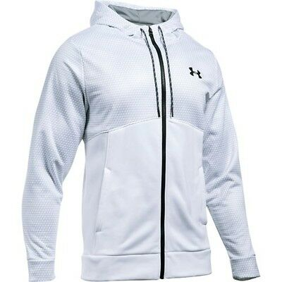 Under Armour 1280753-100 Icon Full Zip Hoodie - White/Black-Small