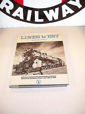 1967 Lines West by Charles R. Wood Hard Cover Book with Dust Jacket