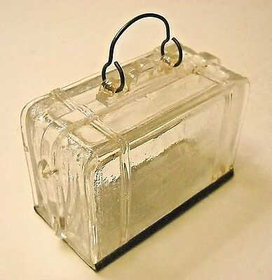 Vintage Glass Suitcase Candy Container