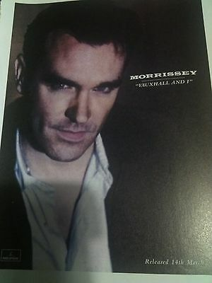 Morrissey 1990s Advert for Vauxhall and I Full Page from British Mag