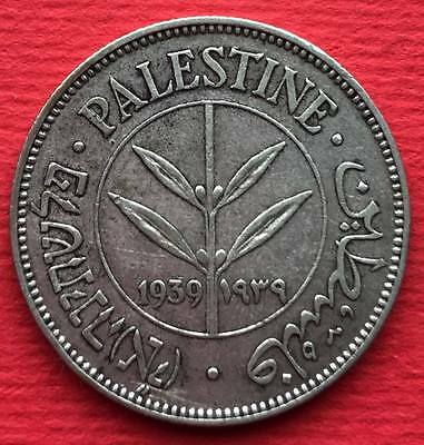 Palestine Israel Islamic Arabic coin 50 Mils 1939 British Administration