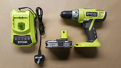 Ryobi Hammer Drill  Percussion Drill + Battery and Charger  LLCDI1802