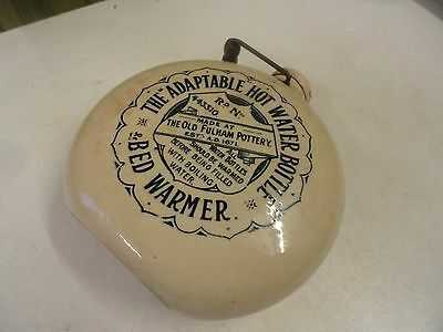 Rare Fulham Pottery Advertising Adaptable Foot Warmer . H.W.Dawes & Co , I.W