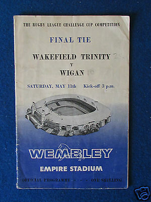 Rugby League Challenge Cup Final Programme - Wakefield Trinity v Wigan - 11/5/63