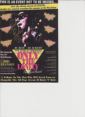 Only The Lonely Musical Autographed Flyer