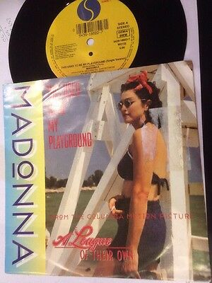 """* MADONNA - This Used To Be My Playground 45 Record 7"""" single 1992 W0122"""