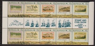 Australia 1988 Early Years gutter strips Mint Sydney stamp show