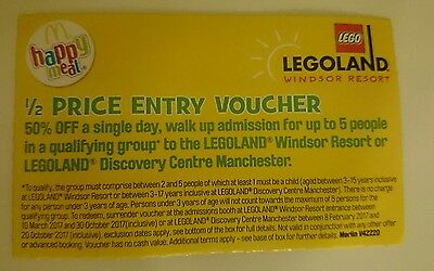 Legoland Windsor half price entry voucher Discovery Manchester