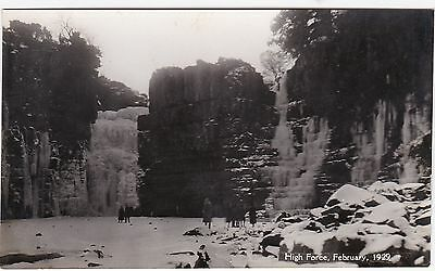 High Force Frozen, February 1929, Nr MIDDLETON IN TEESDALE, County Durham RP
