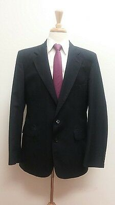 $415 Tyler Hall Men's Navy Blue USA Business Suit 44R 34x31