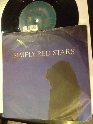 """* SIMPLY RED - Stars 45 Record 7"""" single 1991 YZ626"""