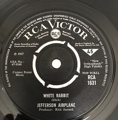 Jefferson Airplane 'White Rabbit' Rare Original Uk 45' Psych 1967!!
