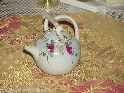 Chinese Export 18 ~ 19th Century Qing Dynasty Pale Blue Florals TEAPOT Qianlong
