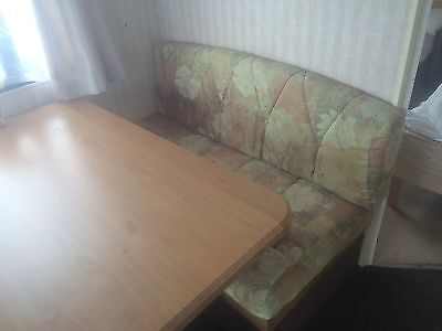 Static Caravan Seating And Table