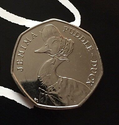 Beatrix Potter Jemima Puddleduck 50p Coin 2016 Uncirculated