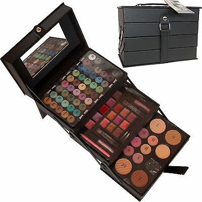 Technic Vanity Case Beauty Cosmetic Set Gift Complete Make Up Box Storage 85 Pc