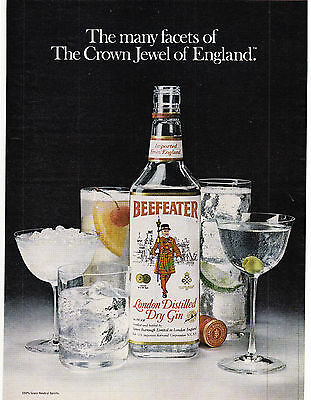 Original Print Ad-1980 BEEFEATER-The Many Facets Of The Crown Jewel Of England.
