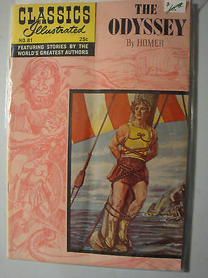 Classics Illustrated #81 Hrn169 - The Odyssey - Vg Condition