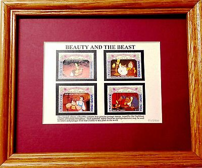 Beauty and the Beast Genuine Framed Postage Stamp