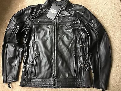 Harley Davidson Beginnings Leather riding Jacket NWT Men's XL tall