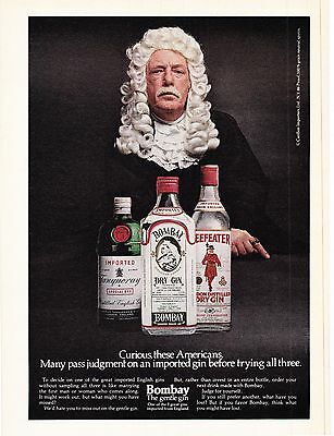 Original Print Ad-1979 BOMBAY DRY GIN-Curious Americans...Many Pass Judgement…