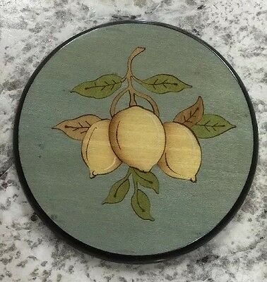 Sorrento inlaid wood Intarsio.Lemon coaster-Made by hand in Italy