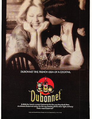 Original Print Ad-1979 DUBONNET The French Idea of a Cocktail-Sexy Couple in B&W