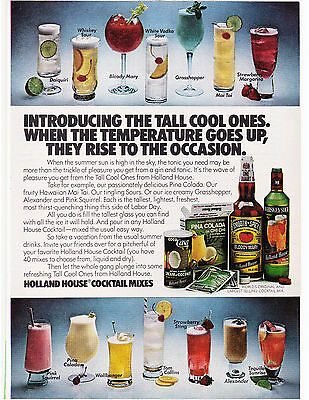 Original Print Ad-1978 Refereshing Tall Cool Ones from HOLLAND HOUSE COCKTAILS