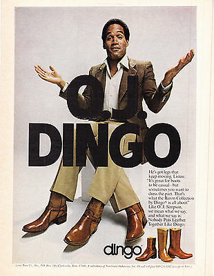 Original Print Ad-1979 O.J. DINGO-He's Got Legs That Keep Movin... O.J. SIMPSON