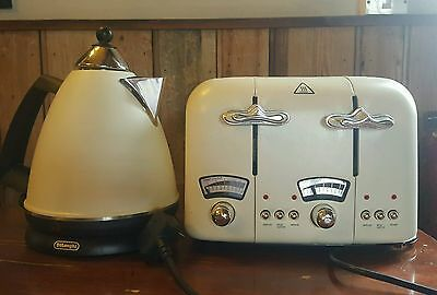Delonghi Cream Toaster and Kettle Set Argento
