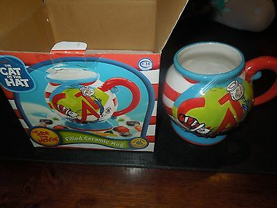Cat in the Hat, Dr. Suess, Large Ceramic 3-D Mug, 2003 Coffee