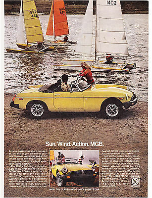 Original Print Ad-1978 Sun. Wind. Action. MGB. The Classic Wide Open Sports Car