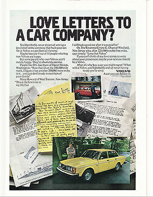 Original Print Ad-1979 LOVE LETTERS TO A CAR COMPANY? VOLVO-Letters and Photos