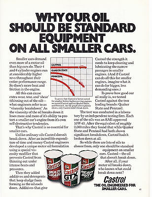 Original Print Ad-1978 CASTROL-Our OIL Should Be Standard Equipment on Small Car