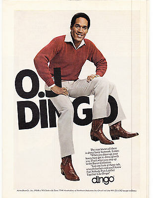 Original Print Ad-1980 OJ DINGO-The man knows all there is about fancy footwork.