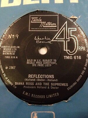 """* DIANA ROSS and THE SUPREMES - Reflections 45 Record 7"""" single 1967 TMG616"""