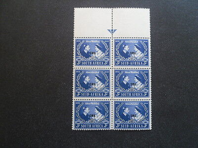 SOUTH WEST AFRICA KGV1 1948 Siver Wedding SG.137 block of 6 MNH