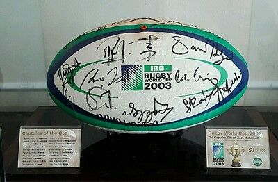 COL RWC2003 Gilbert Xact Matchball Autographed by all 20 Team Captains